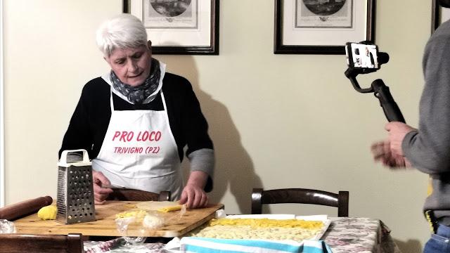 Trivigno, pasta fresca tradizionale di Trivigno, Caddy Food youtuber